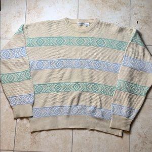 Vintage Claiborne Cotton Striped Sweater